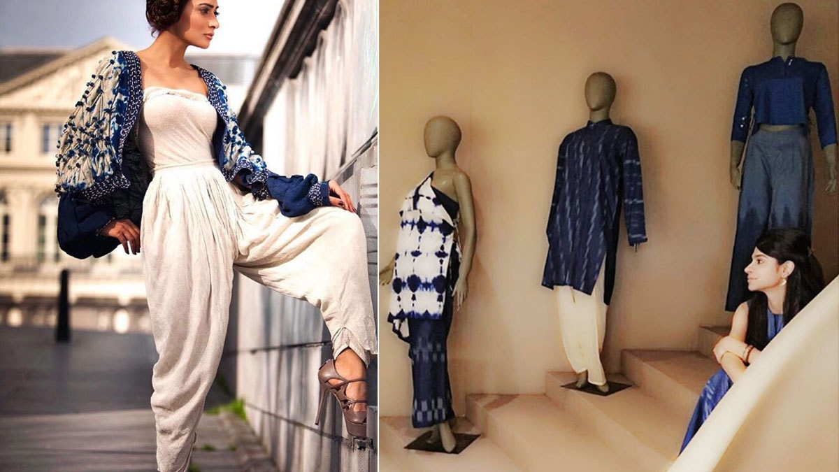 Using hues of blue and tie-n-dye, Sonya Battla makes her collection stand out from the rest.