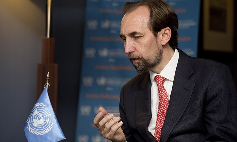 UN rights chief Zeid Raad al-Hussein.— AP/File