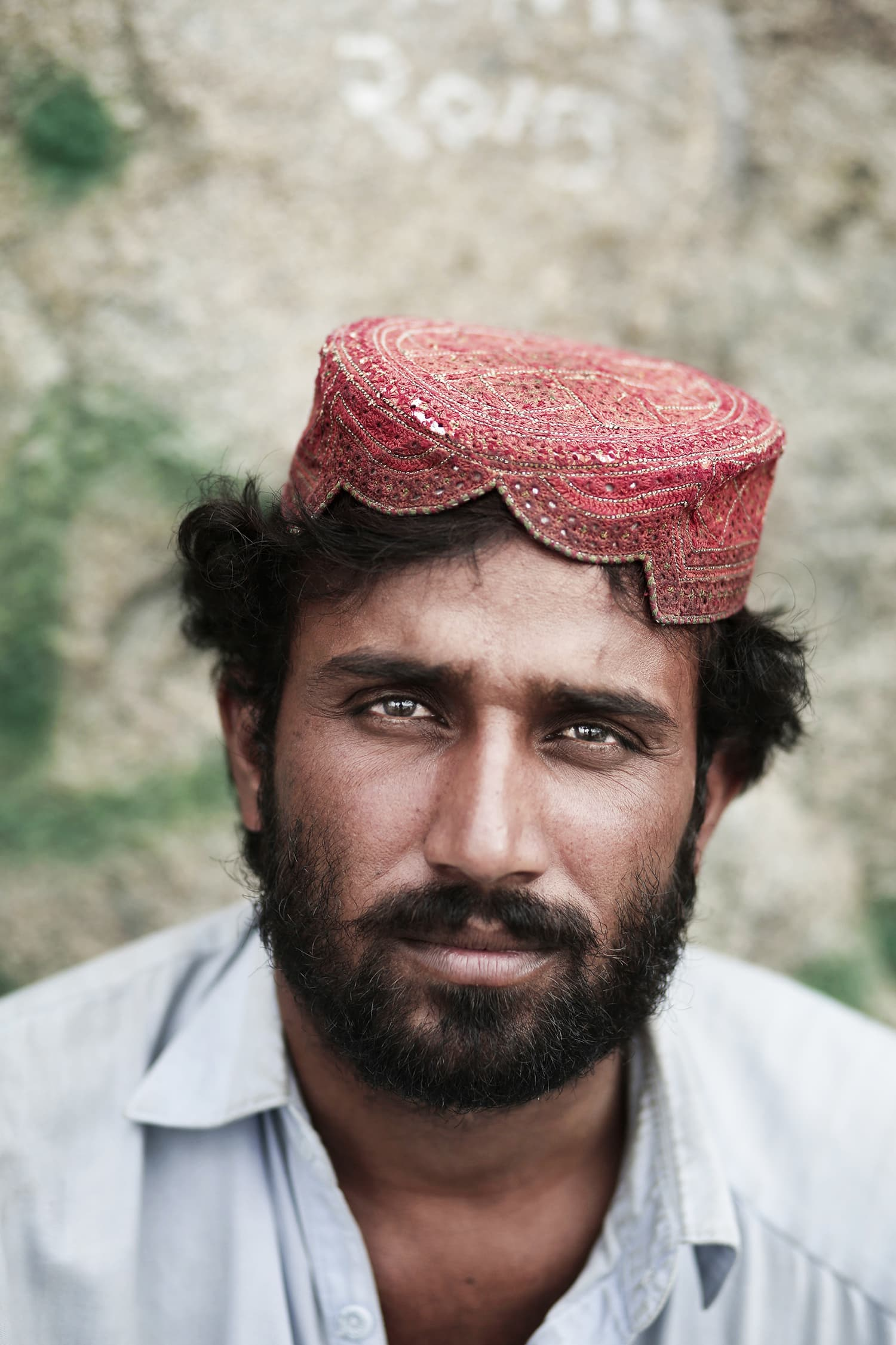 Nizam Din, 30, from Quetta, poses for a portrait on Noor Mountain.— AP.