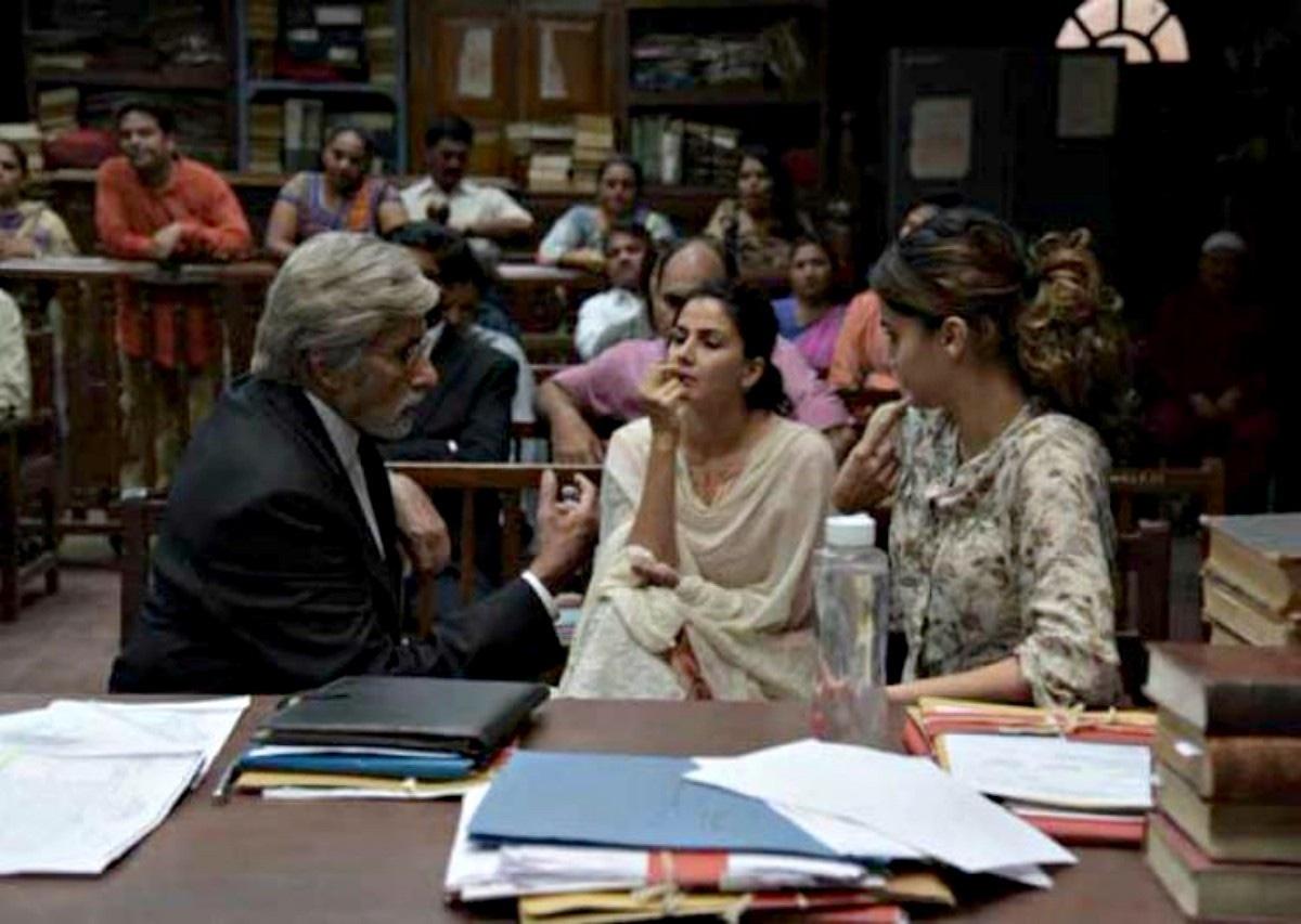Kriti Kulhari (centre) in a scene in Pink