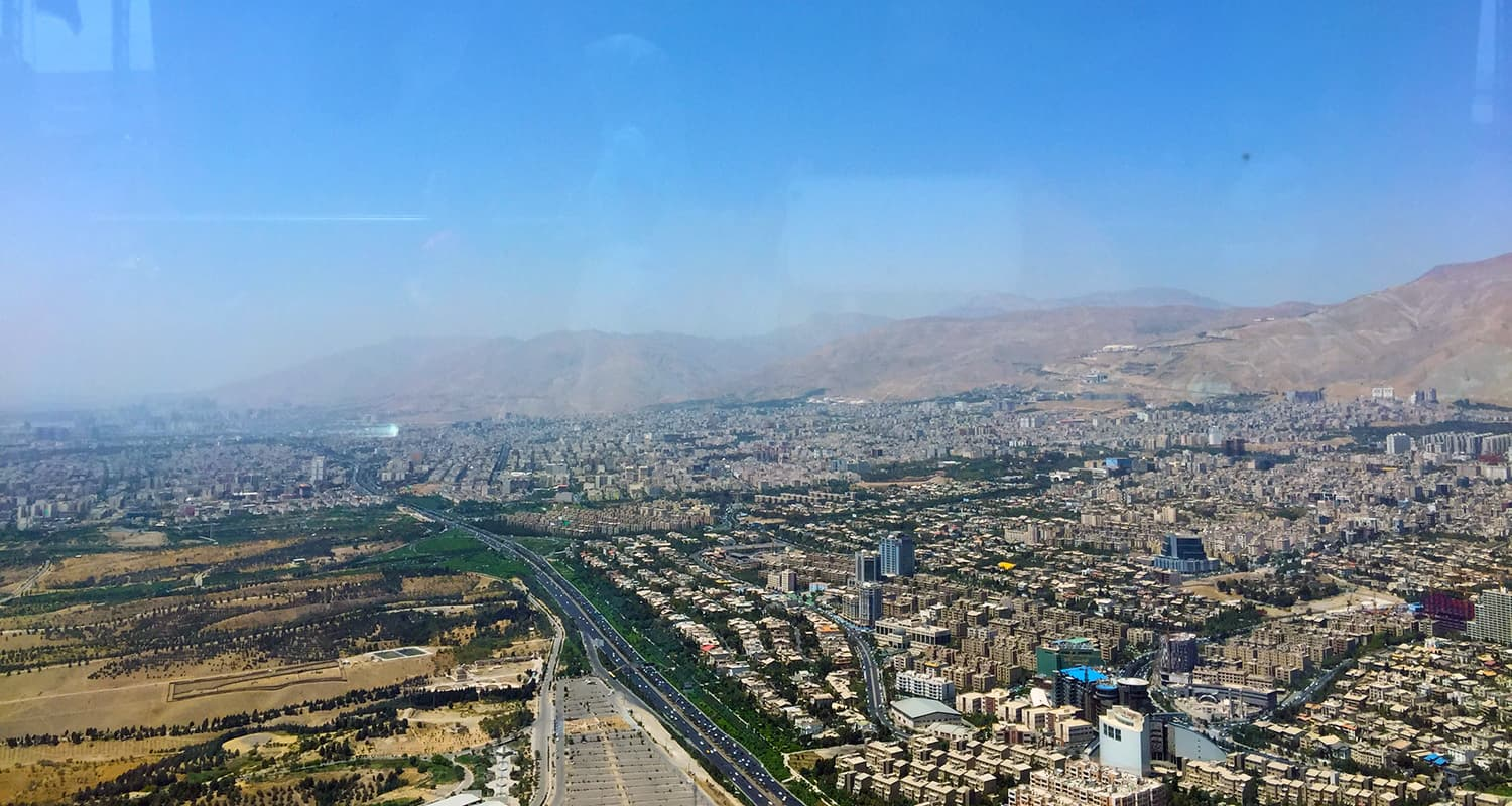 View from the Milad Tower.