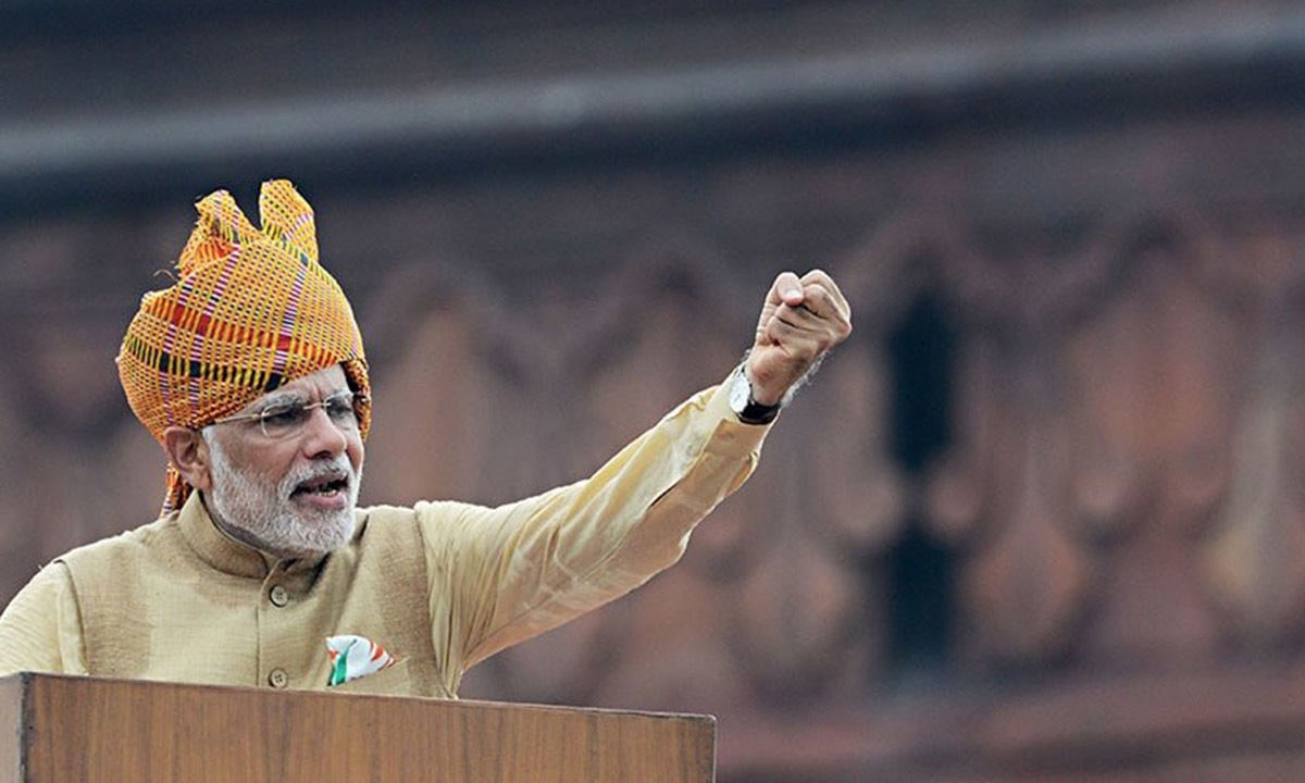 During his Independence Day speech, the Indian Prime Minister stated that the people of Balochistan and Gilgit had thanked him | AFP
