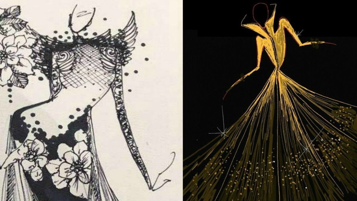 Sketches of designs by Ali Xeeshan and Faraz Manan - Publicity photos