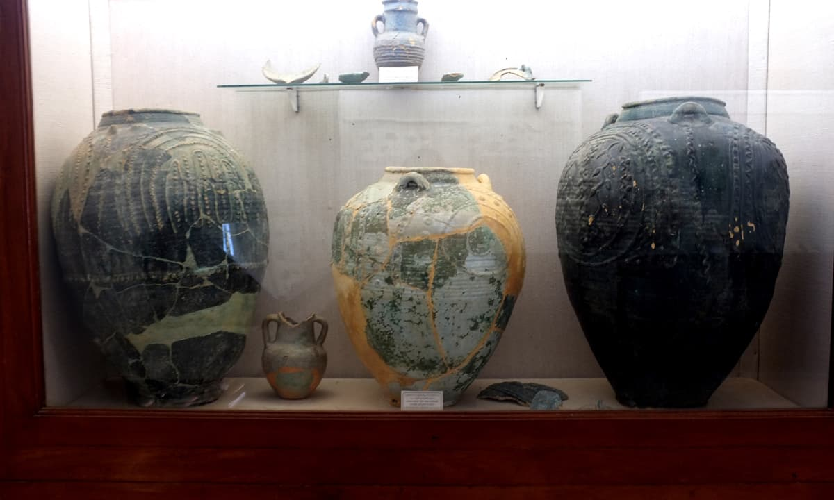Artefacts from Banbhore displayed at the museum