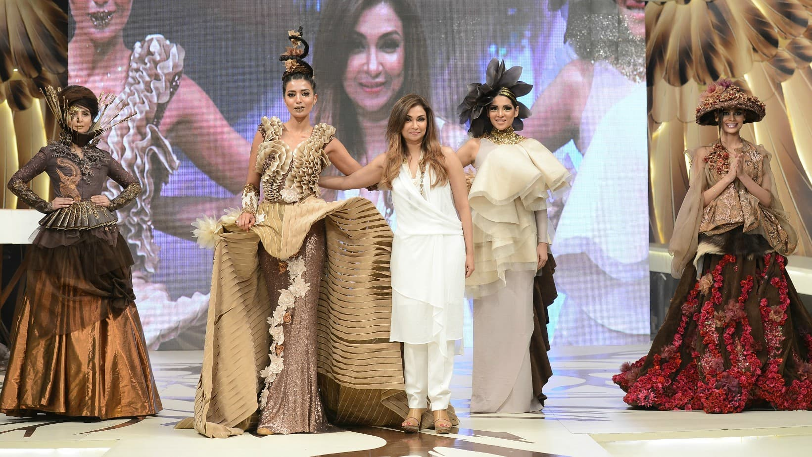 Shamaeel Ansari's presented a chocolate-inspired collection - Photograph by Faisal Farooqui and his team at Dragonfly