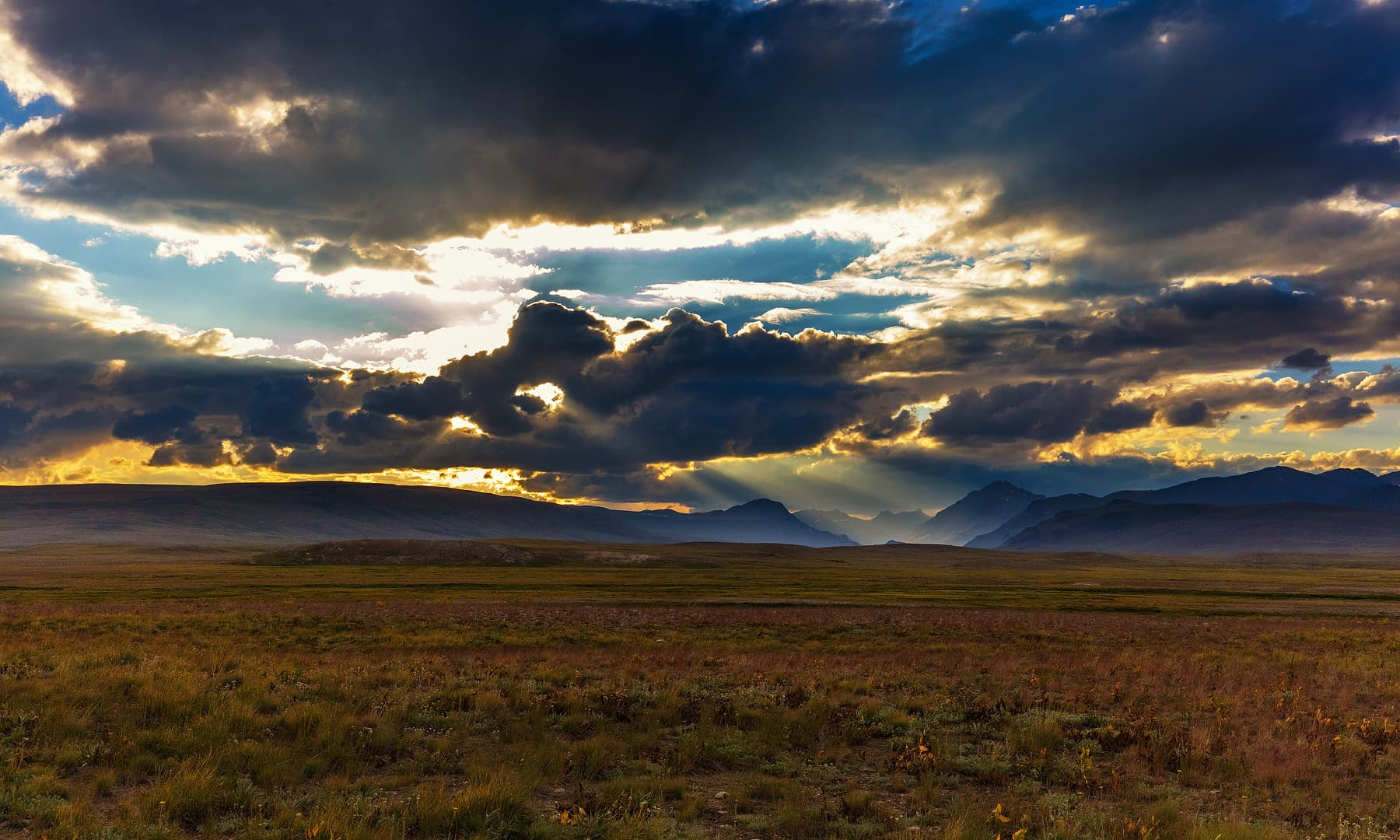 Watching the sunset in Deosai was an unforgettable experience.