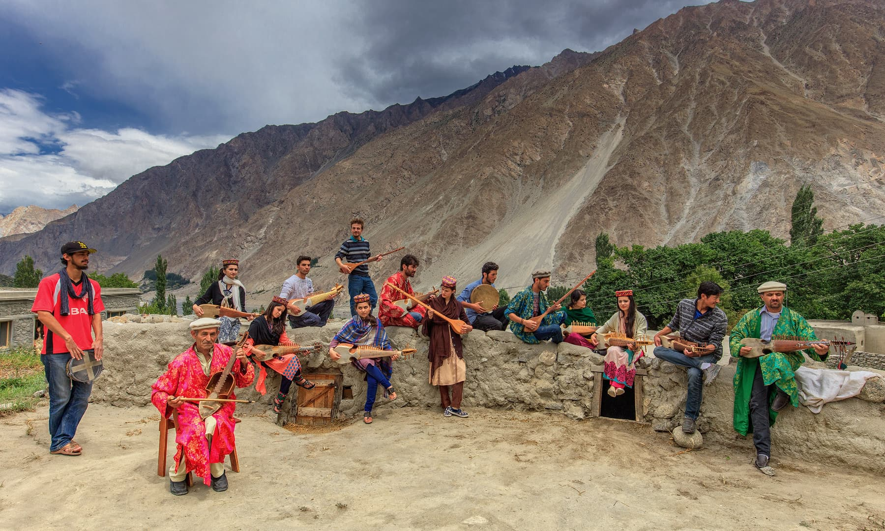 Locals try to keep the traditional Wakhi music alive.