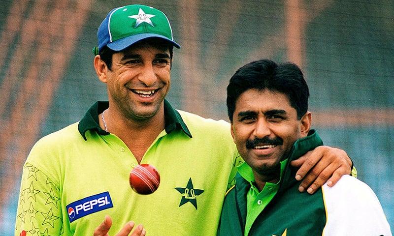 Wasim Akram and Javed Miandad. — AFP