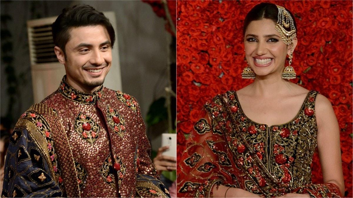 Ali Zafar and Mahira Khan walk as showstoppers for Bollywood couturier, Diva'ni