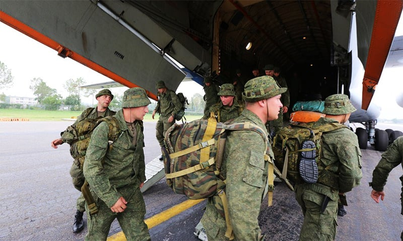 Russian troops arrive for first ever joint military exercise