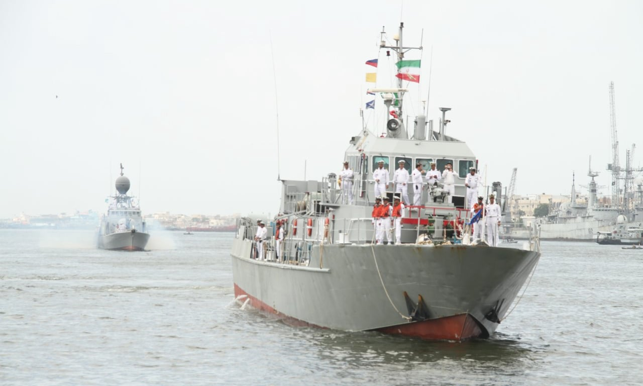 The visit of Iranian fleet is expected to enhance maritime collaboration between the two brotherly Islamic countries. —Photo courtesy Pak Navy