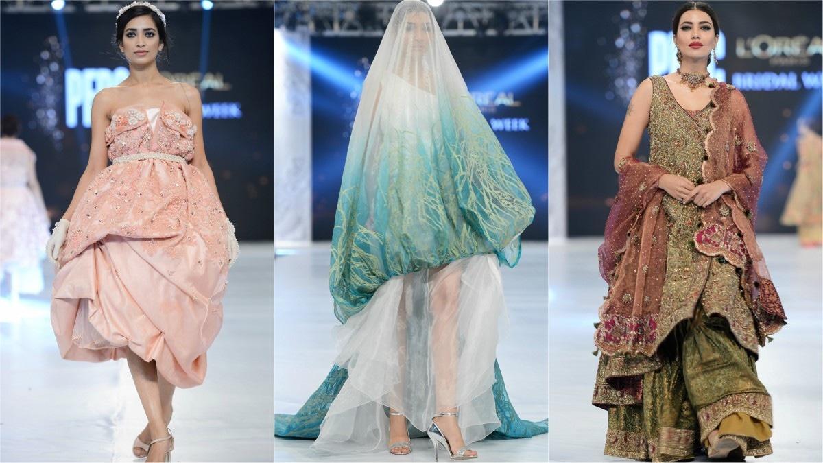 From L-R: Aamina Naeem, Maryam Amjad and Sara Naqvi's designs