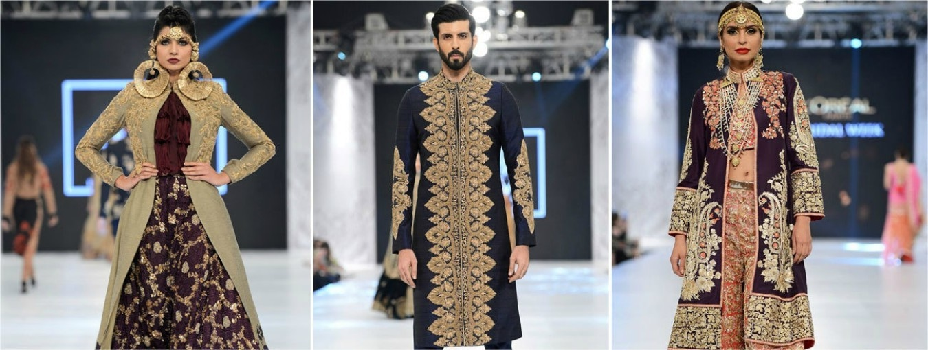It was a welcome sight to see exquisite hand-worked ghararas and dupattas on the runway