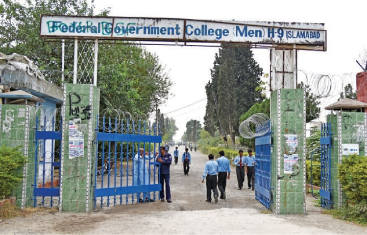 All government colleges have denied admission to students with less than 45pc marks in intermediate exam.— Dawn