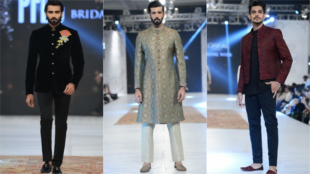 Omar Farooq was the only designer to showcase an entire collection dedicated to men.