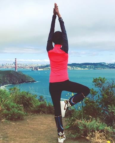 Yoga round the world Mountain pose in San Francisco — Photo courtesy Meesha Shafi