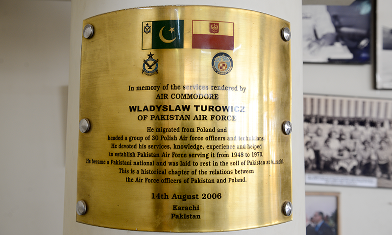 Plaque at PAF Museum Karachi