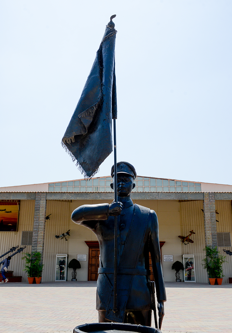 Statue of Turowicz at PAF Museum Karachi.