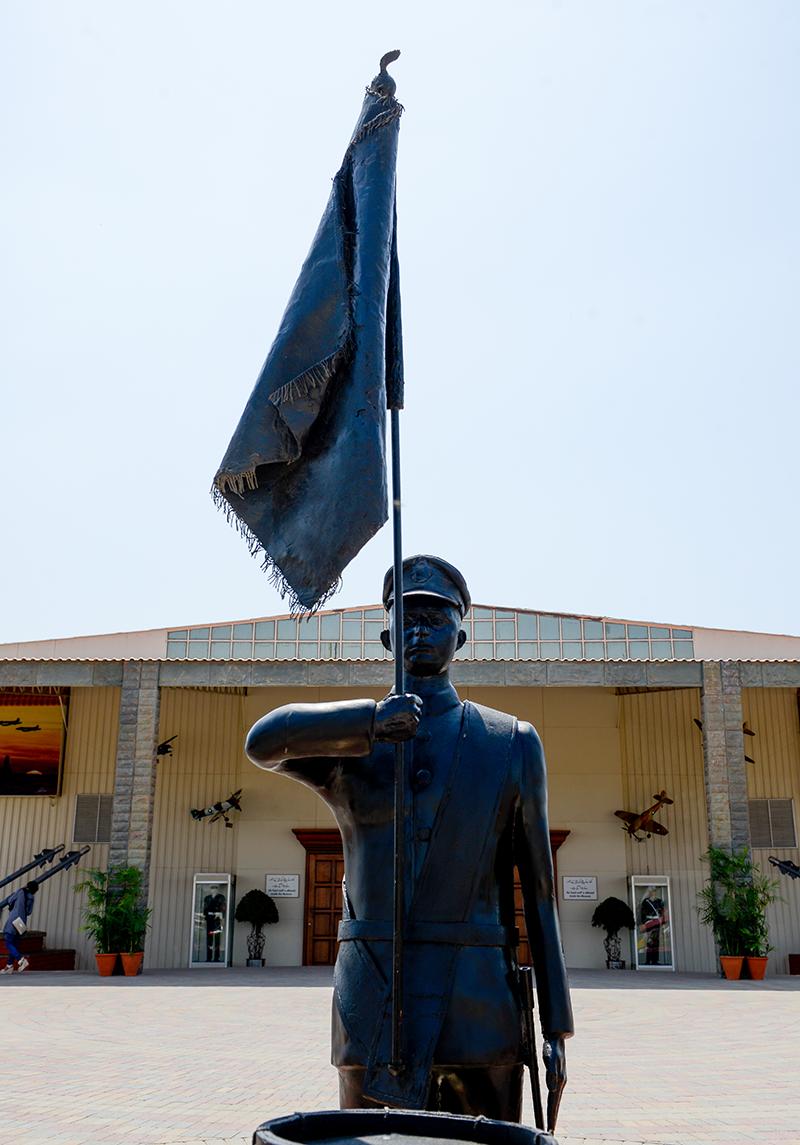 Statue of Turowicz at PAF Museum Karachi.