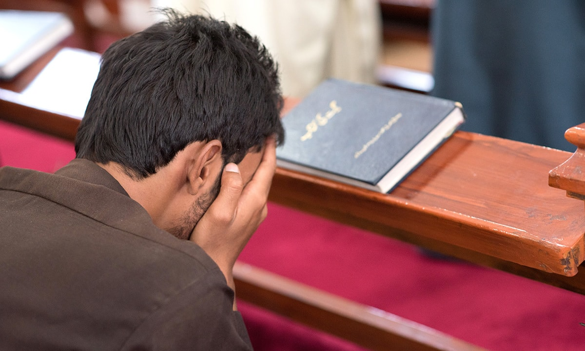 A worshiper at the Bethel Memorial Methodist Church in Quetta | Sara Faruqi
