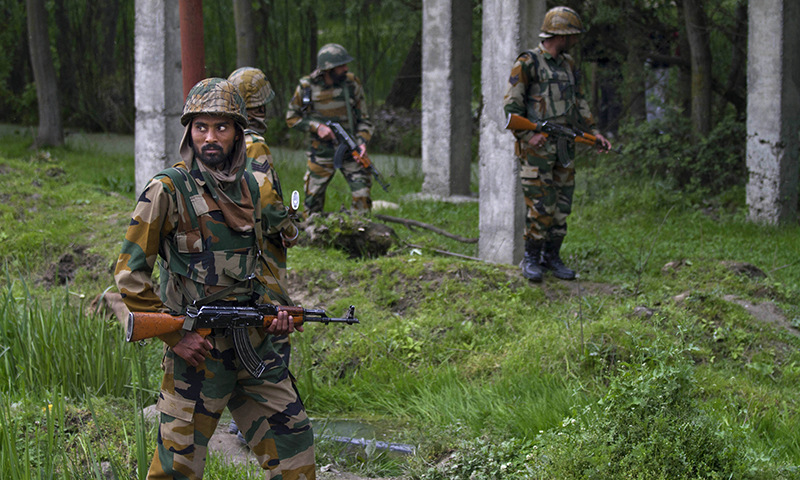 One BSF trooper killed as Indian army camp in held Kashmir attacked