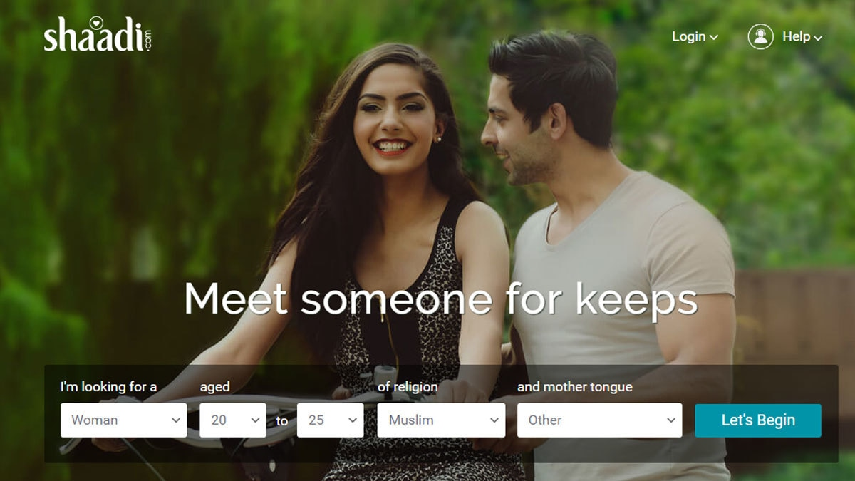 Shaadi.com main page... in case you're interested.