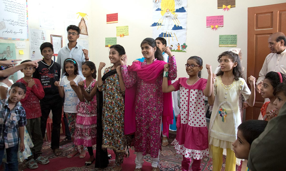 Sunday school students at the Bethel Memorial Methodist Church   Sara Faruqi