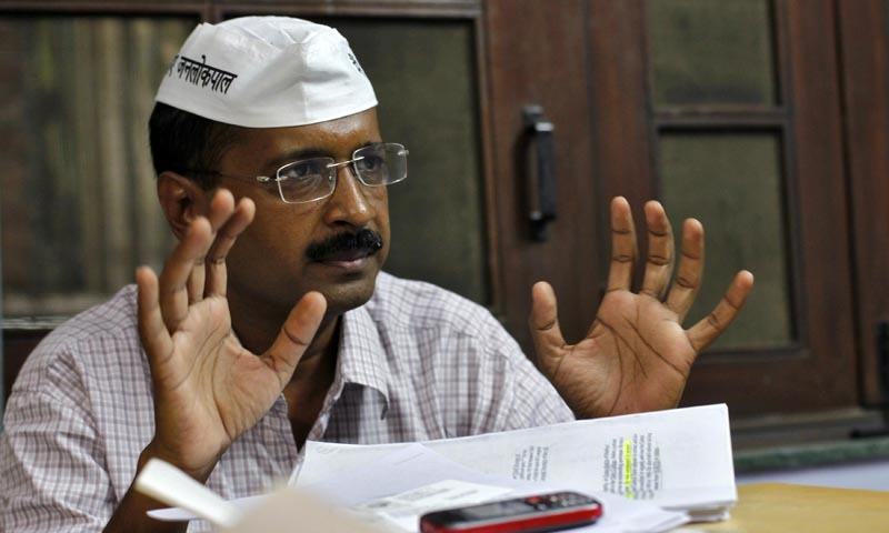 Ink thrown on Delhi CM Kejriwal after he called for evidence of 'surgical strikes'
