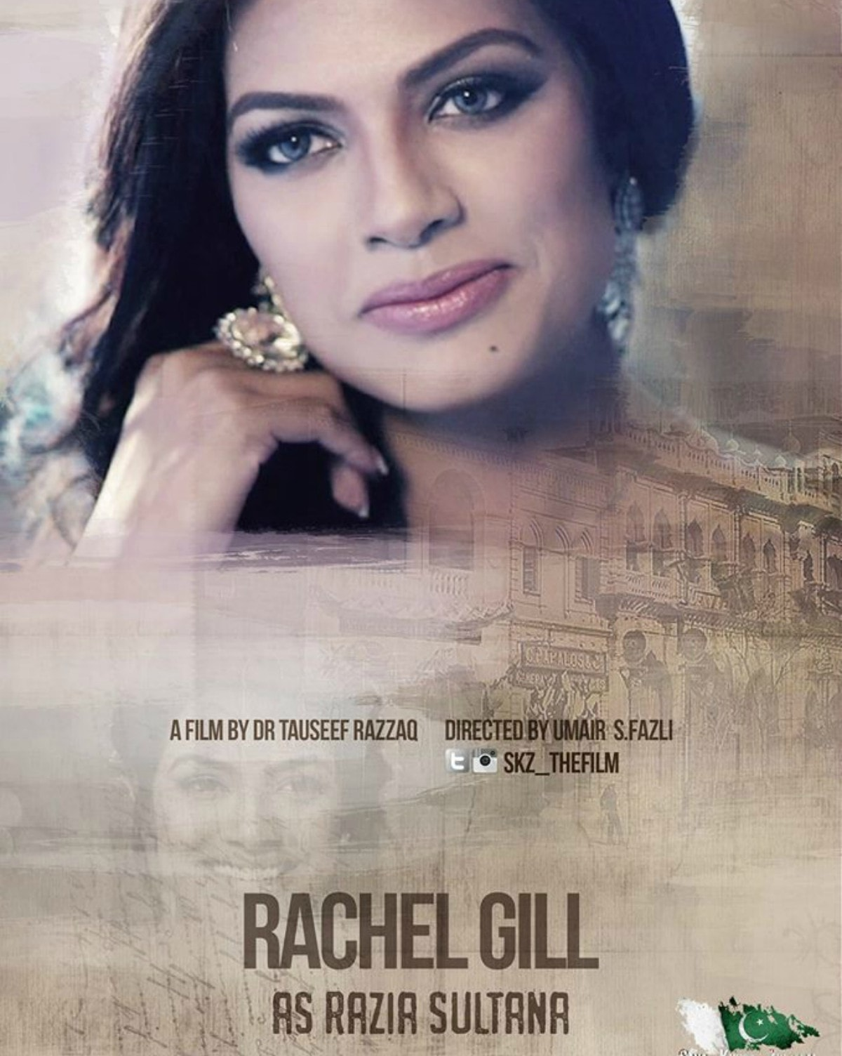 Rachel Gill as Razia Sultana in Saya e Khuda e Zuljulaal