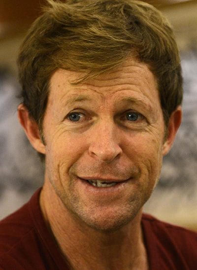 Jonty Rhodes gestures during an interview with Dawn. — Syed Tahir Jamal/White Star