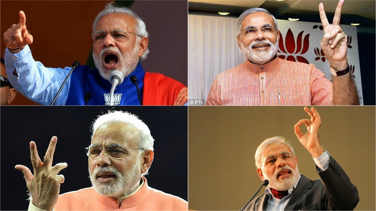 And we thought SRK was bad, what with Modi's signature moves and all...