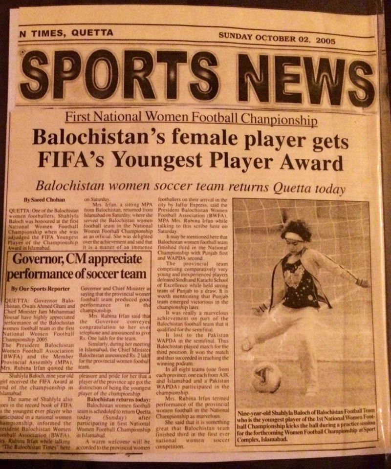 Image courtesy: Balochistan United Women Football Club Facebook page