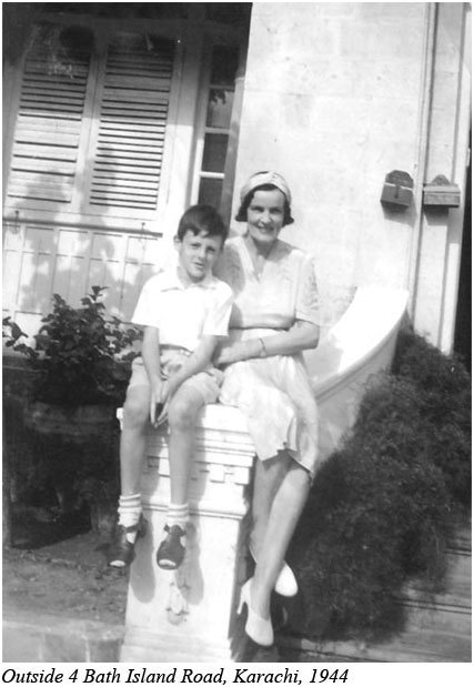 A British mother and son at their home in Bath Island in 1944. By then the area had become a highly 'posh' locality of Clifton. The house seen in the picture still stands. It has been owned by various British companies.