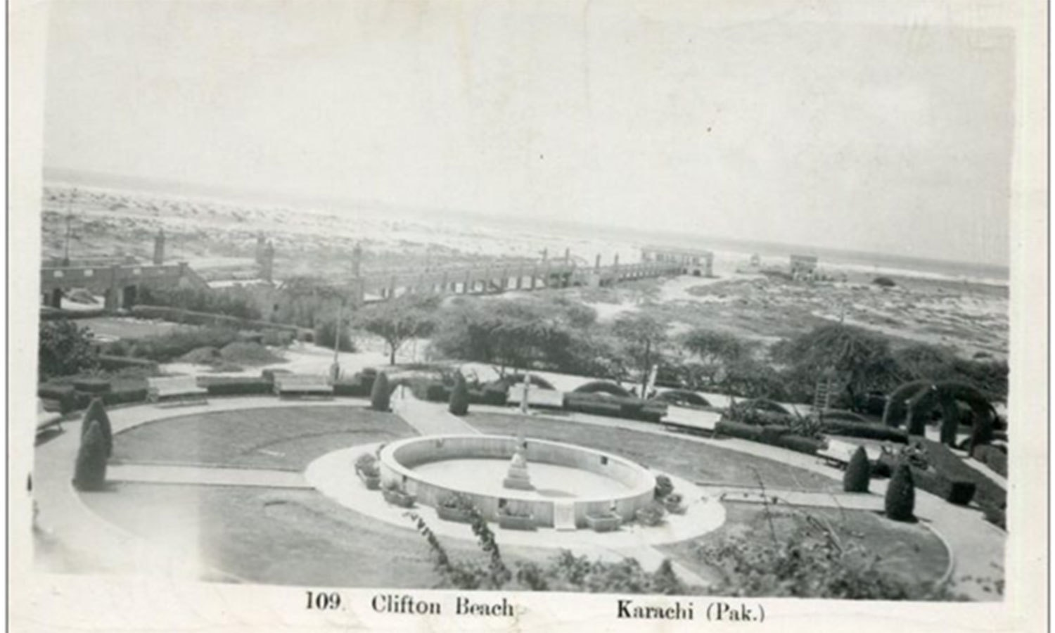 The future Sea View area at the Clifton Beach in the 1940s.
