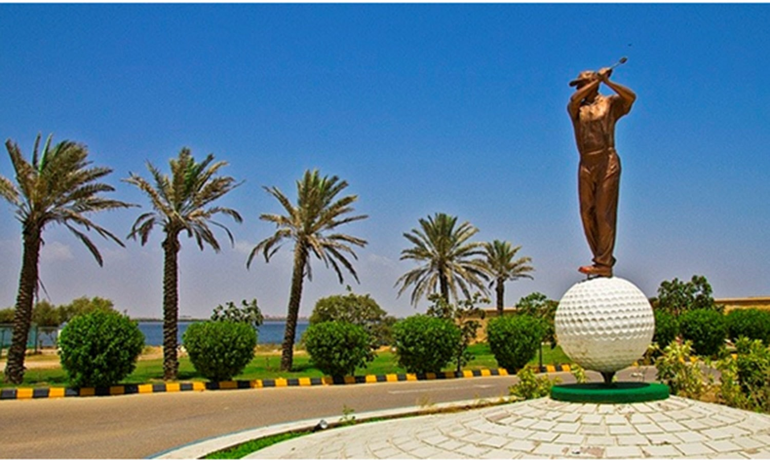 Entrance of the DHA Golf Club.