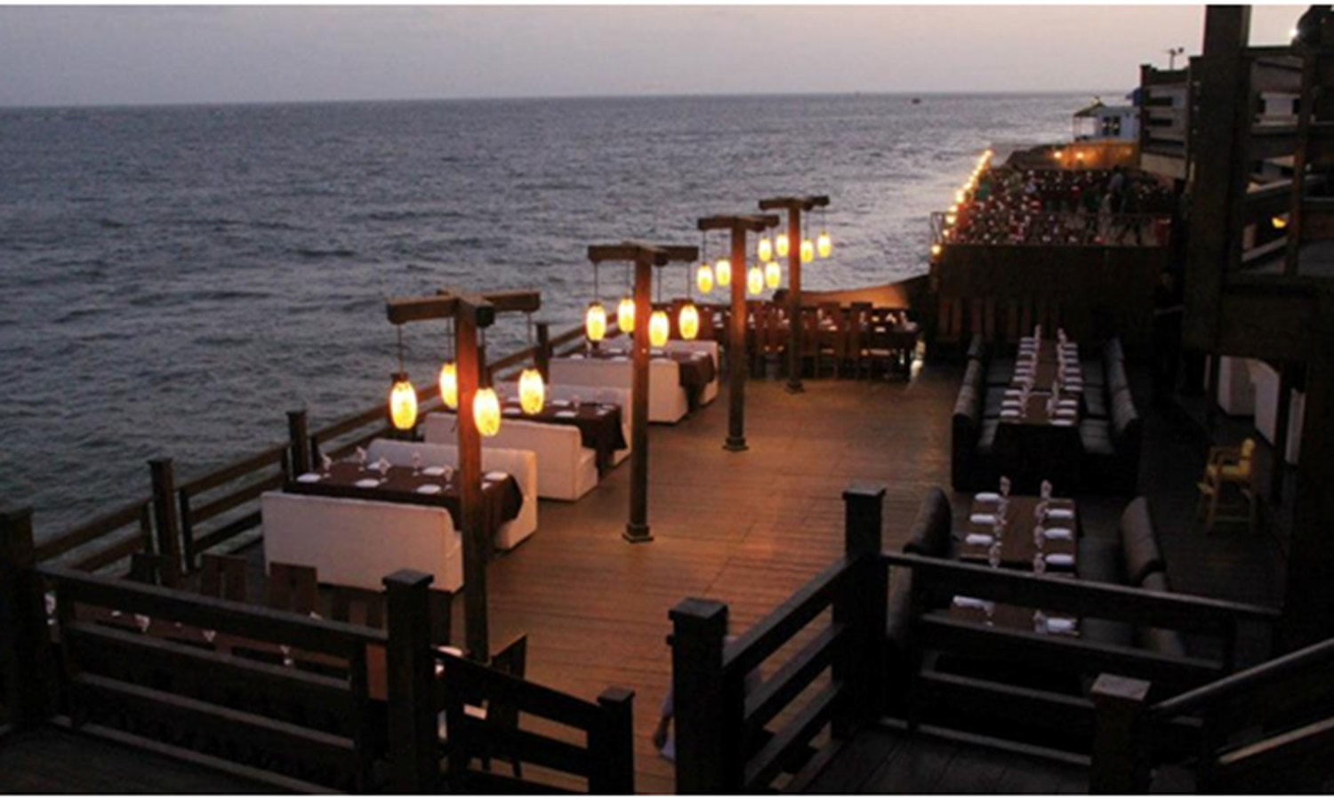 Restaurants by the sea in DHA.