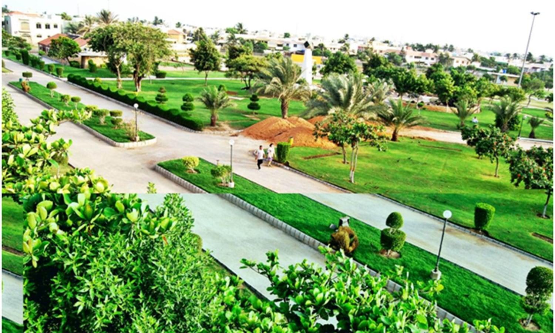 The Zamzama Park: DHA's largest public park.