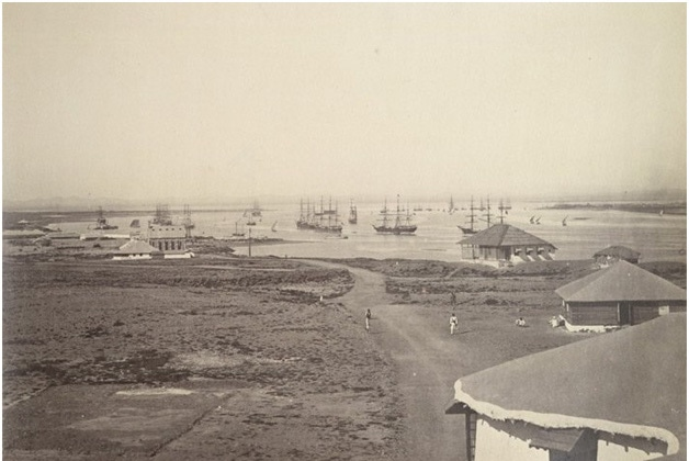 The Karachi Port in the 1850s.