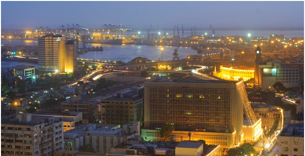 Karachi Port view at night. (Pic: Ali Raza Khatri)