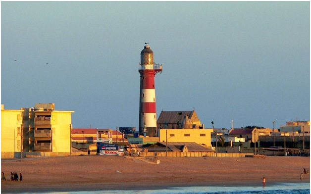 Manora today, with its famous lighthouse and old church.