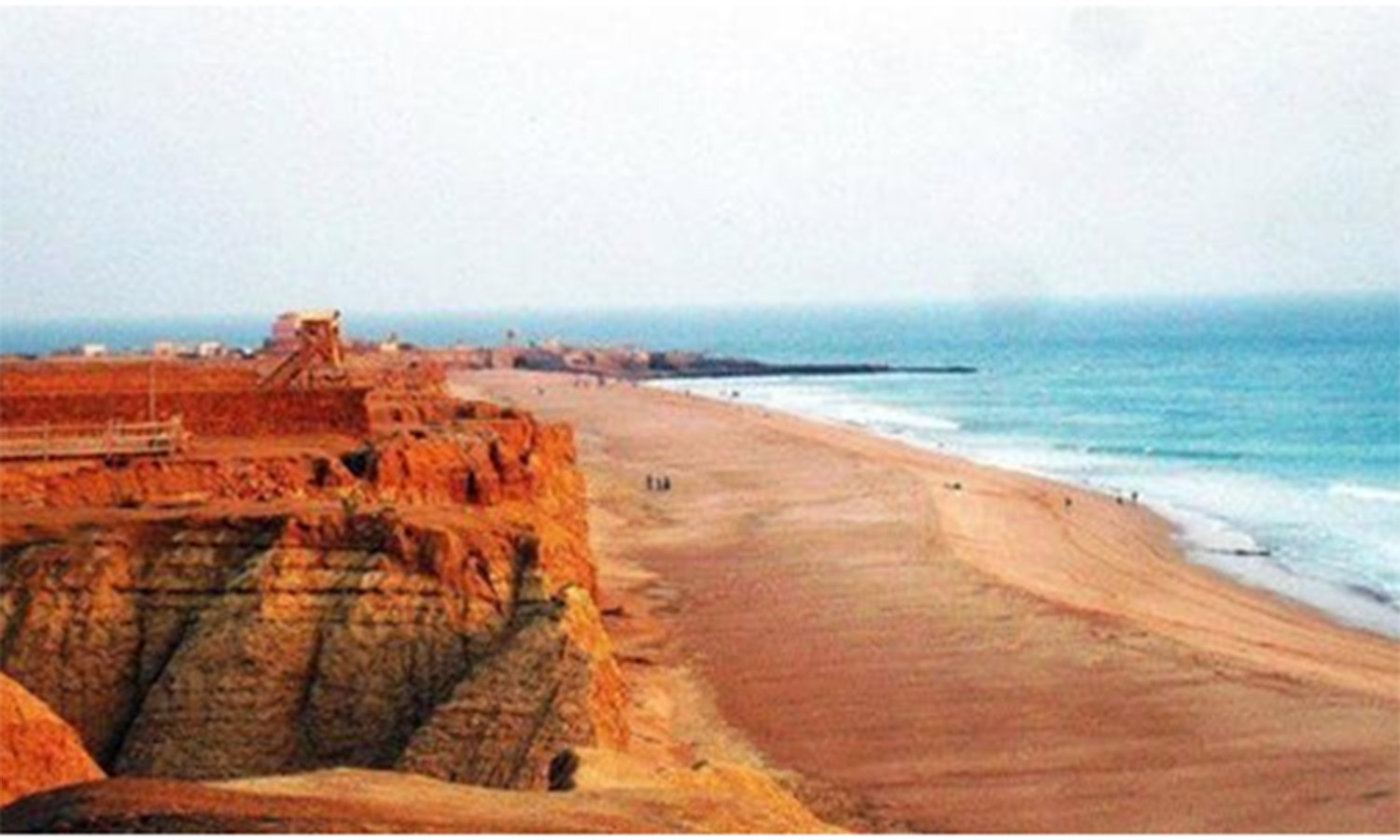 The serene Cape Monze Beach (aka Ras Mauri). It is located near the Hub River which meets Karachi's sweet water needs.