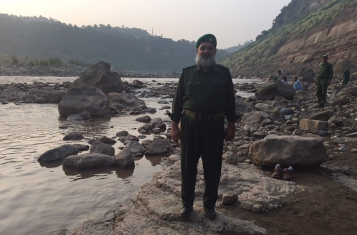 Guarding the Poonch River - Photo provided by the writer