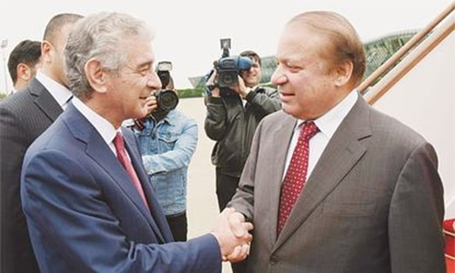 PM arrives in Baku on three-day visit