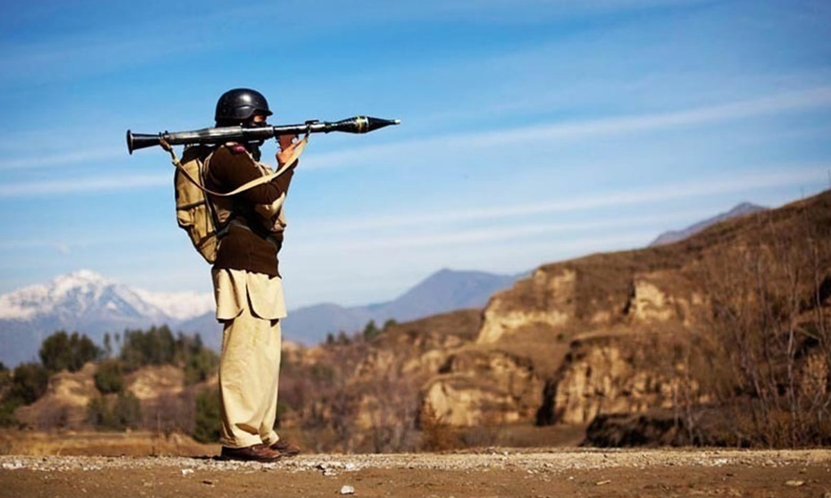 A Pakistani soldier holds a rocket launcher while securing a road in Federally Administered Tribal Areas (Fata) | Reuters