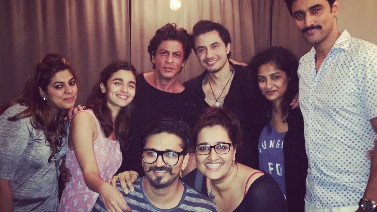 Ali Zafar with his co-stars in Dear Zindagi — the ban on Pakistani stars is likely to affect this film too