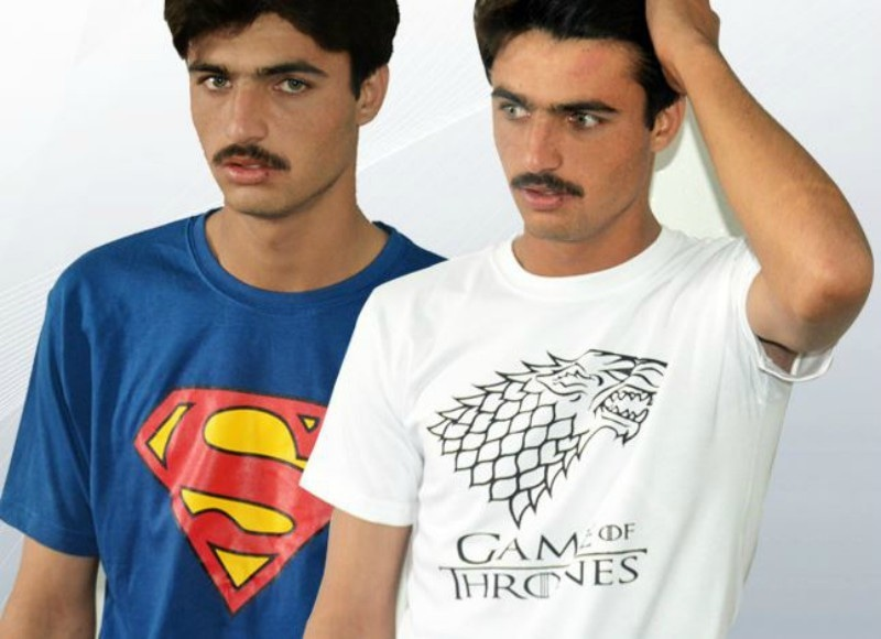 Arshad's modelling t-shirts for fitin.pk - Photo courtesy fitin.pk