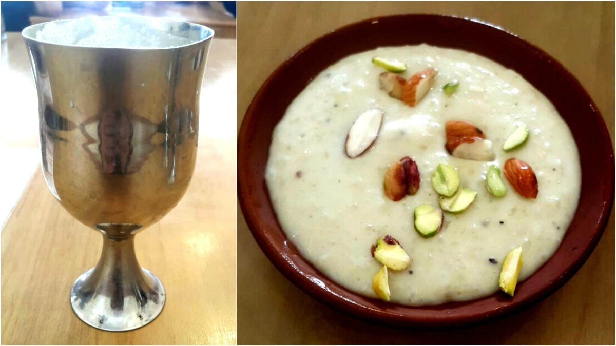 We rounded off our meal with a glass of sweet lassi and some kheer for dessert