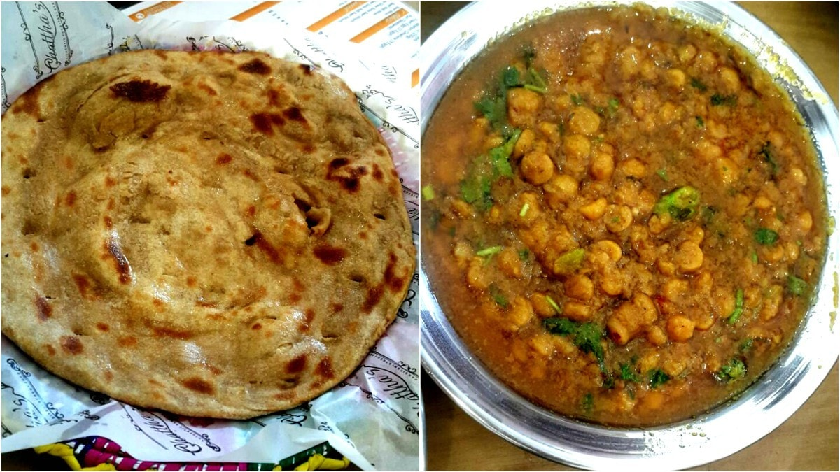 Chattha's is famous for their wholewheat tandoori paratha with daal channa