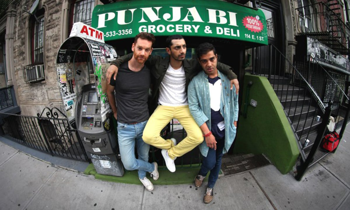 Left to right: Cashmere's producer Redinho, with Riz Ahmed and Himanshu Suri, aka Heems | Photo courtesy: thewire.in