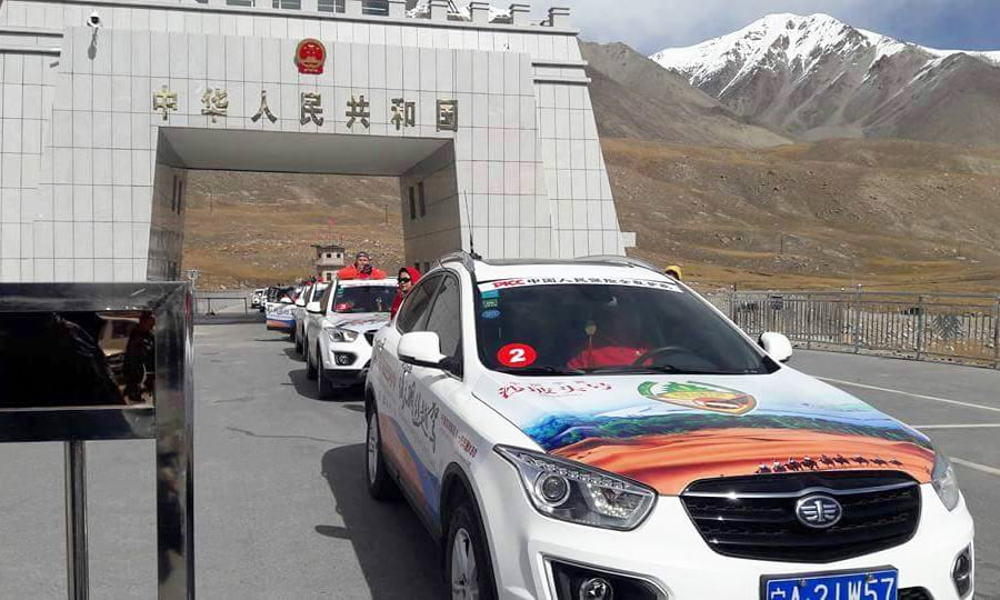 The rally entered Pakistan through Khunjerab Pass on Saturday. —Photo courtesy Facebook pages